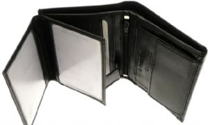 Black Mens Wallet & Credit Card Holder With Coin Storage
